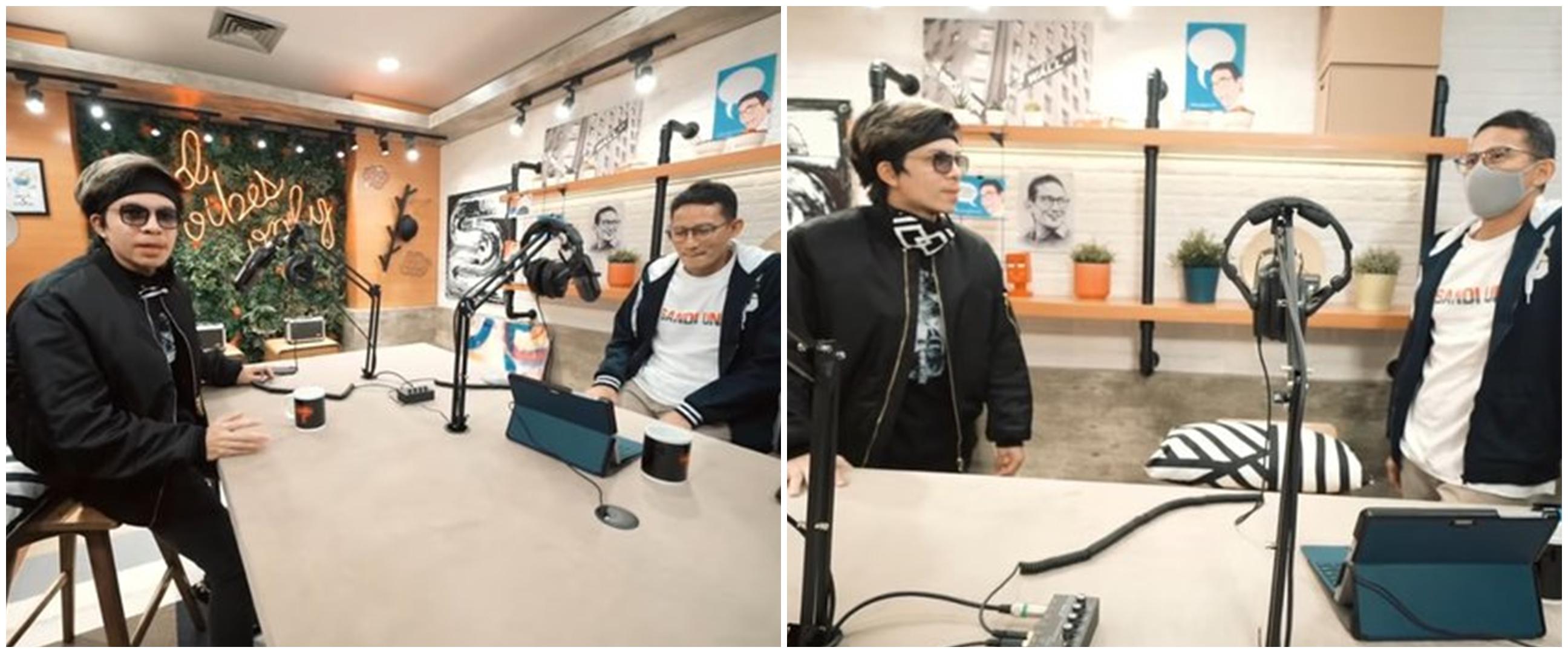 10 Potret studio podcast Sandiaga Uno, Instagramable banget