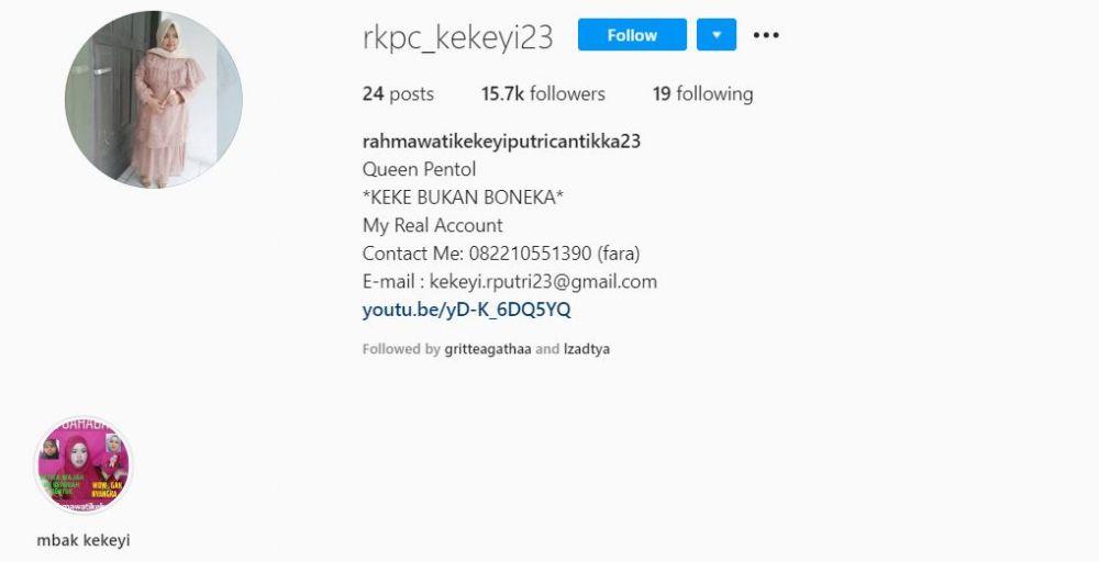 Kisah pilu Kekeyi melamar kerja  Instagram & YouTube