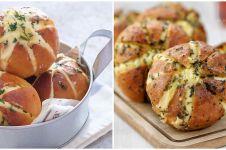 Resep dan cara membuat cream cheese garlic bread, roti ala Korea