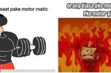10 Meme lucu pengendara motor matic ini lucunya bikin ketawa ngegas