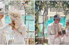 Gaya 9 seleb hadiri pernikahan Dinda Hauw, dress code serba putih