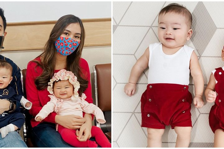 10 Pose ekspresif anak kembar Syahnaz, gemasnya maksimal