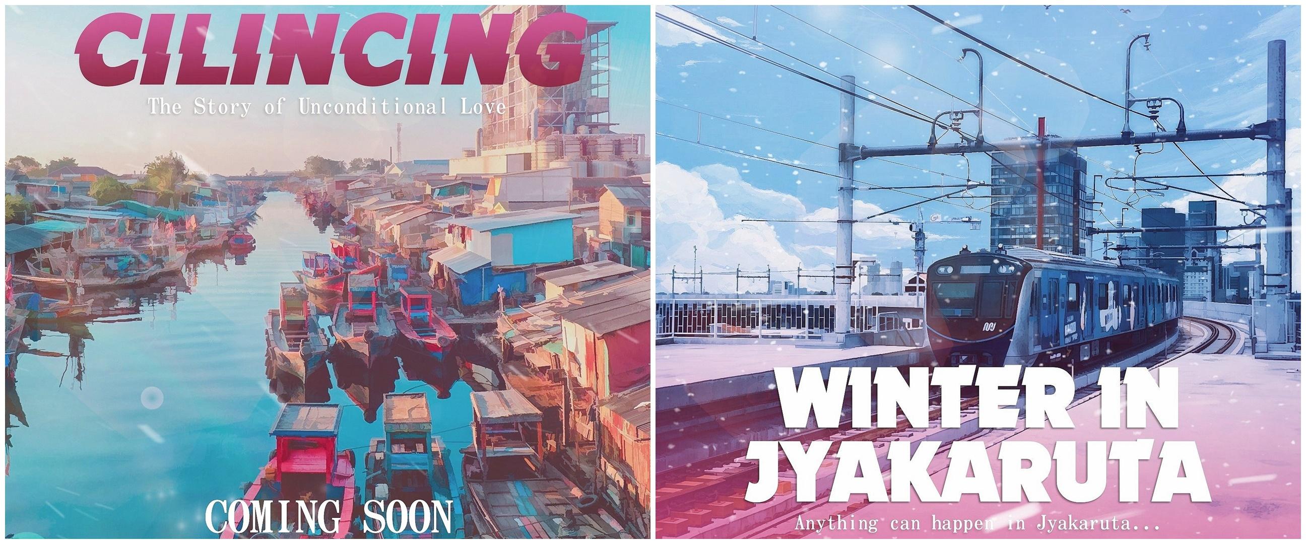 9 Penampakan sudut kota Jakarta ala poster anime, keren abis