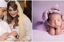 9 Potret akikah putri Tania Nadira & Abdulla Alwi, serba pink