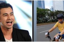 Momen Raffi Ahmad naik sepeda Brompton Explorer, harganya fantastis