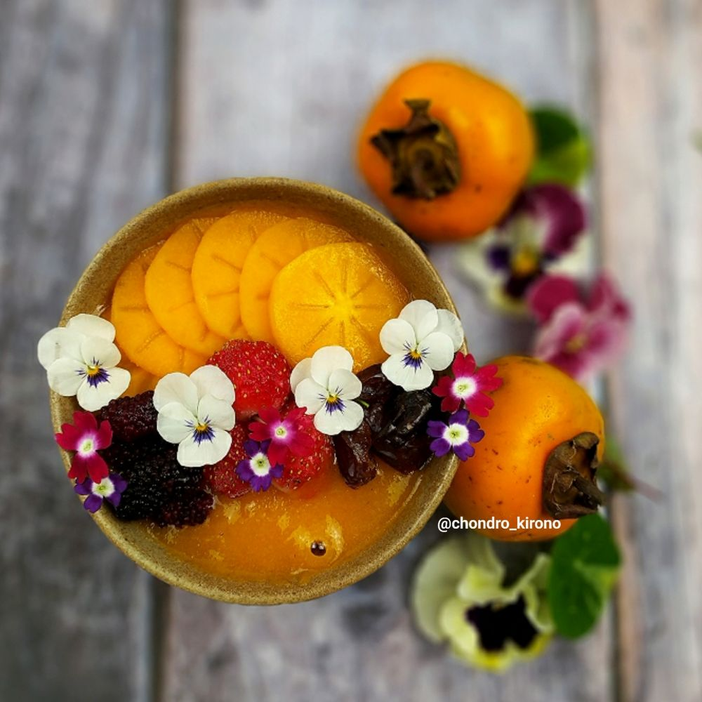 Resep persimmon smoothie bow Chef Chondro Chef Chondro