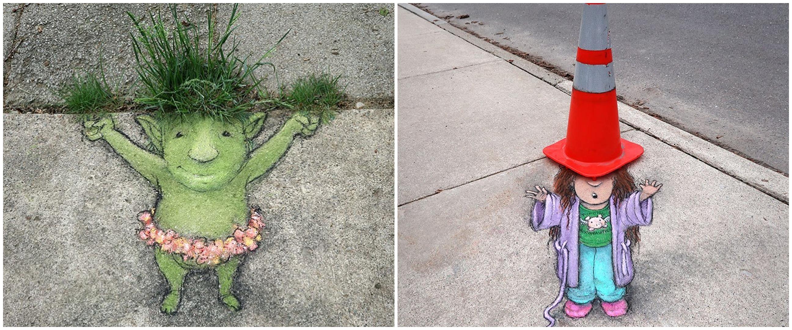 Benda jalanan jadi karya seni, 10 potretnya seperti 3D