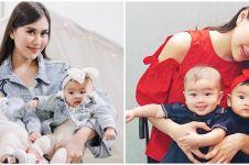 Momen 4 seleb momong anak kembar tanpa baby sitter, telaten banget