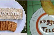 9 Potret kreasi makanan berbentuk pola huruf, kocak
