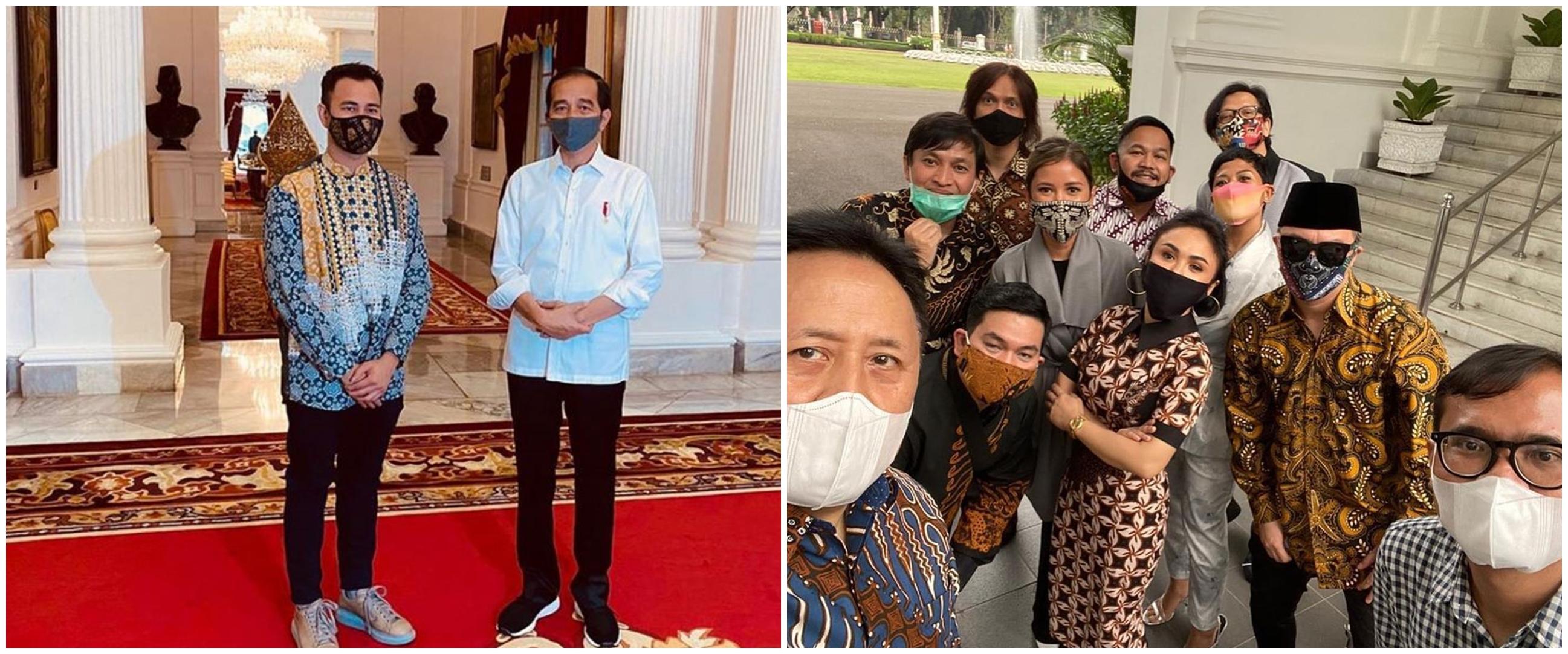 Momen 11 seleb diundang Jokowi, diminta kampanye protokol Covid-19