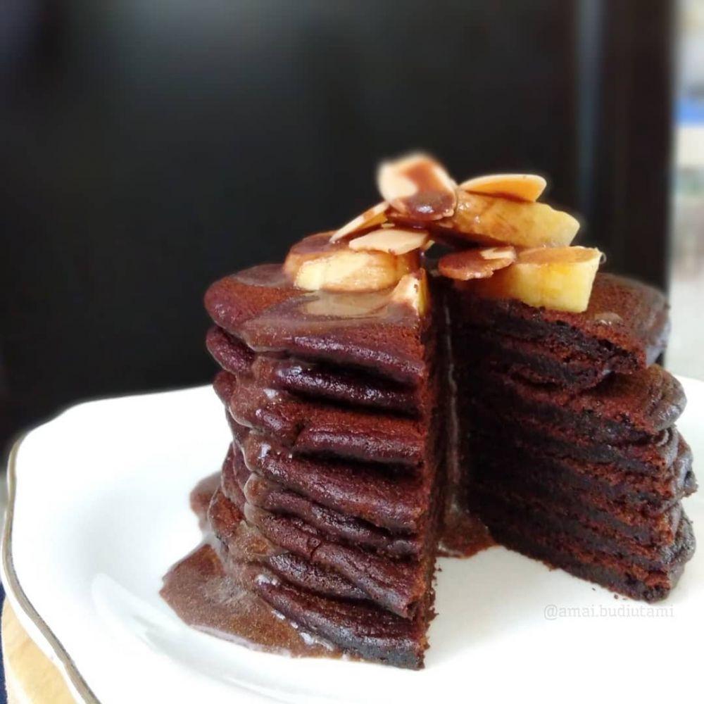 Pancake cokelat berbagai sumber