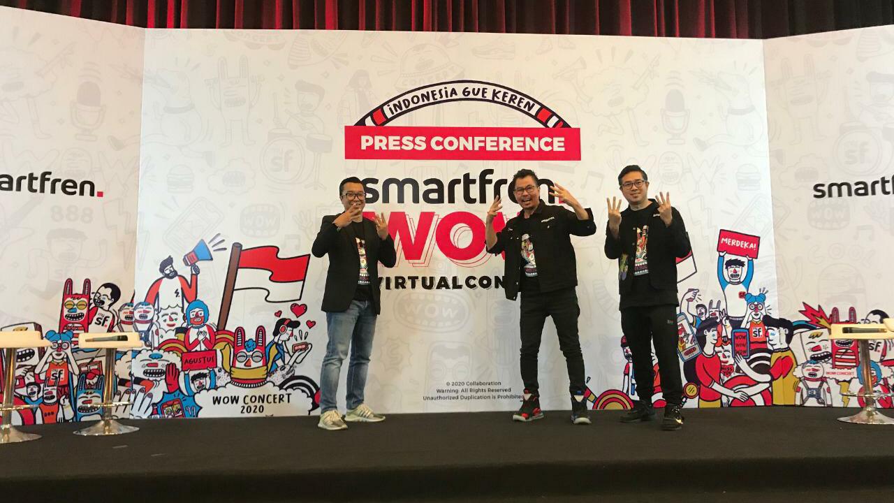 Tayang virtual, Smartfren WOW Concert 2020 akan live di tiga negara