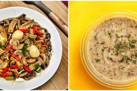 10 Resep olahan jamur kancing yang enak, sehat, sederhana, & praktis