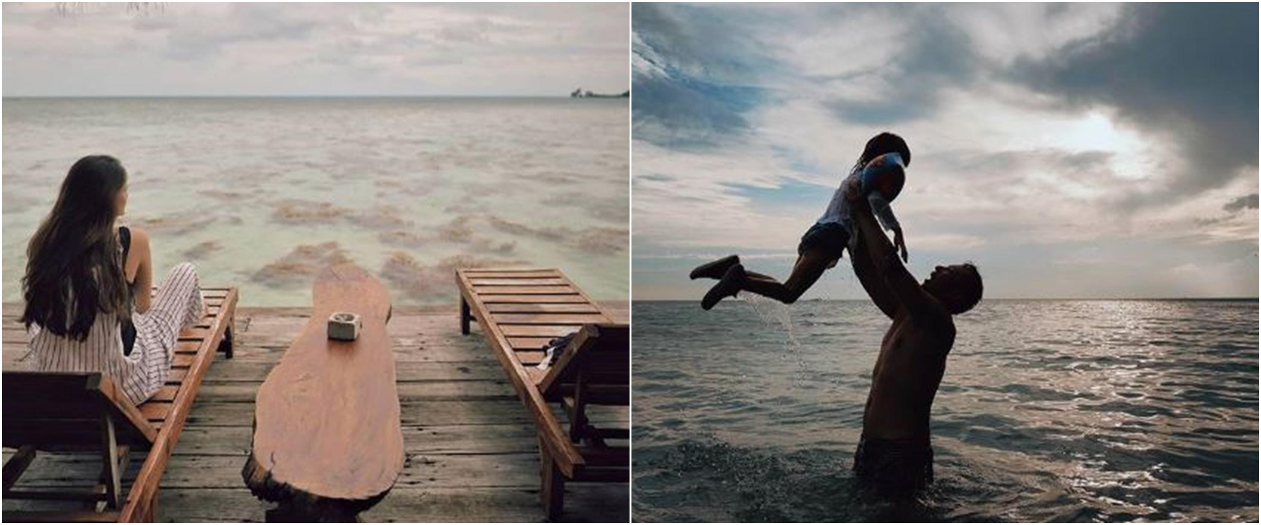 Momen 8 seleb liburan ke pantai saat new normal, ada yang babymoon