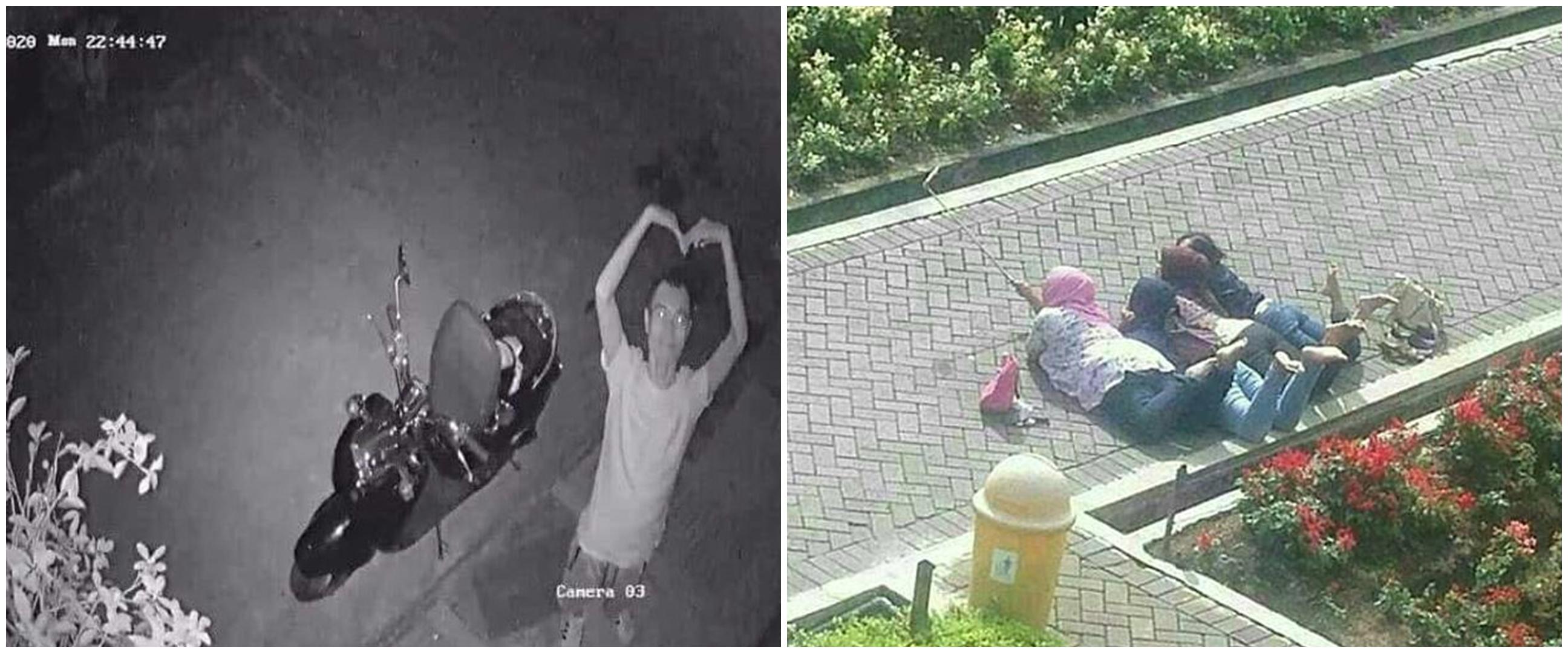 Tertangkap CCTV, aksi 7 orang kelewat narsis ini kocak