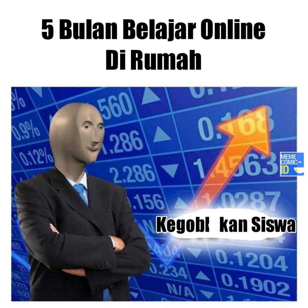 Meme sekolah online Berbagai sumber