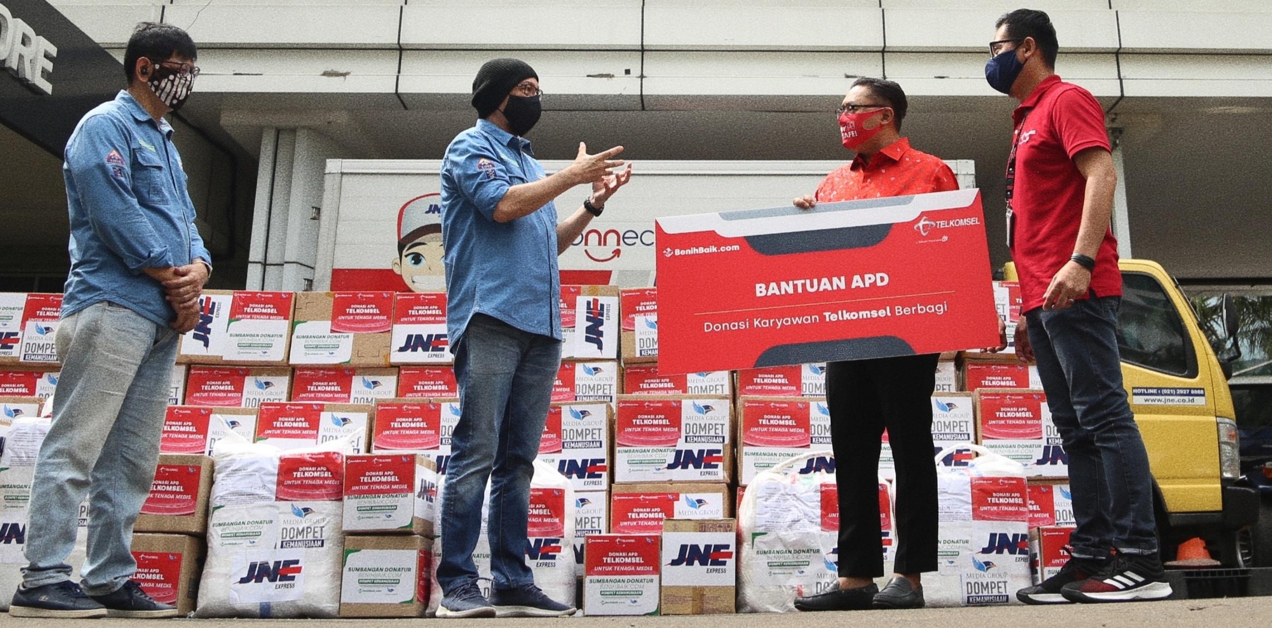 Karyawan & direksi Telkomsel patungan bantu korban terdampak Covid-19