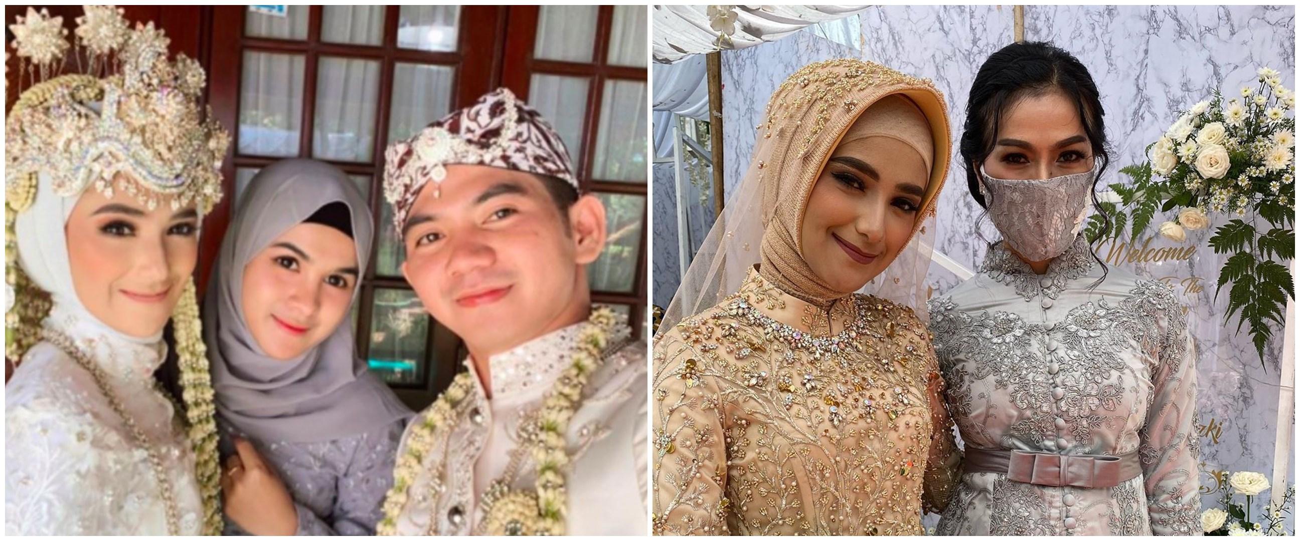 7 Momen hangat seleb hadiri pernikahan Rizki D'Academy & Nadya