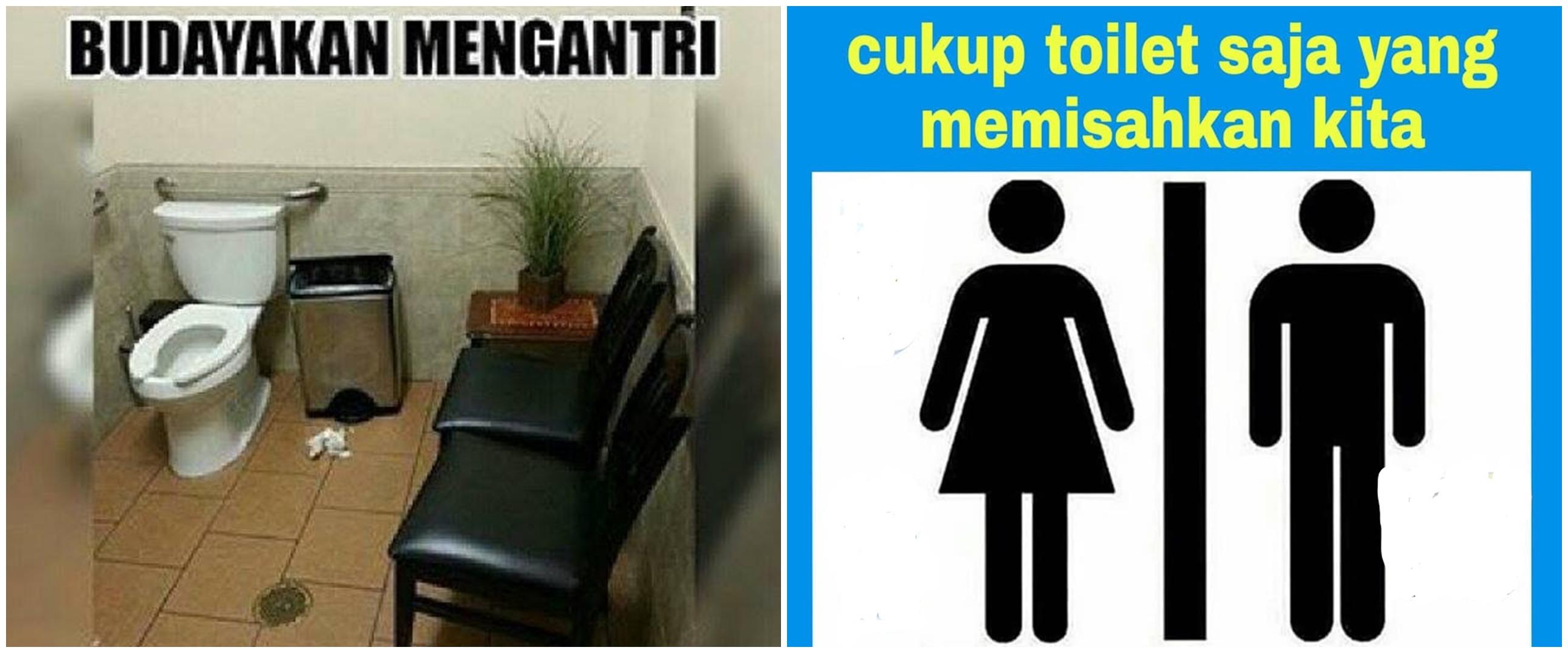 10 Meme lucu toilet ini bisa bikin auto gagal mulas