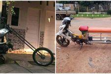 10 Ide kreatif bikin sepeda motor ini endingnya kocak abis