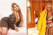 5 Gaya Nicki Minaj umumkan kehamilan anak pertama, pakai bra unik