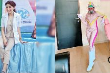 6 Gaya Dokter Nina Agustin kenakan APD unik, fashionable abis