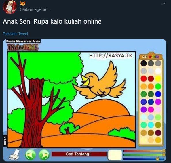 kuliah online lucu Twitter