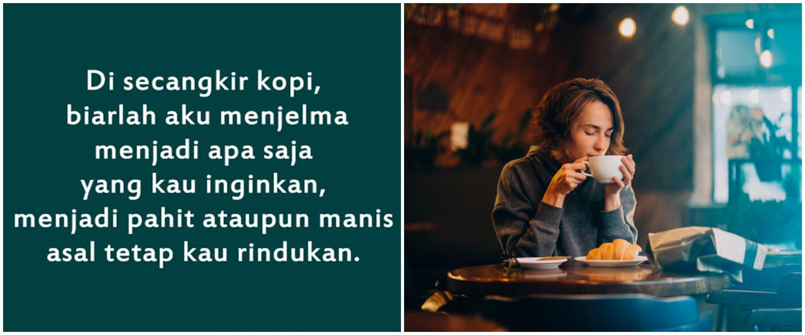 50 Kata-kata caption indie tentang kopi, penuh makna filosofis