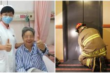 Perjuangan ibu dan anak terperangkap di lift 4 hari ini bikin pilu