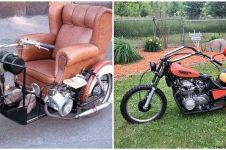 10 Potret modifikasi jok motor bikin tepuk jidat, jadi WC duduk