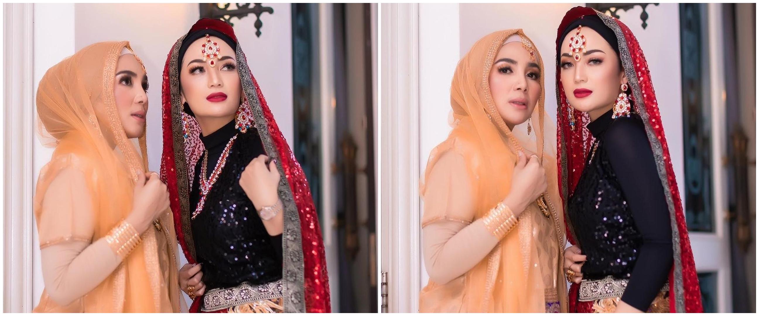 7 Gaya Imel Putri saat arisan bergaya ala artis Bollywood, memesona
