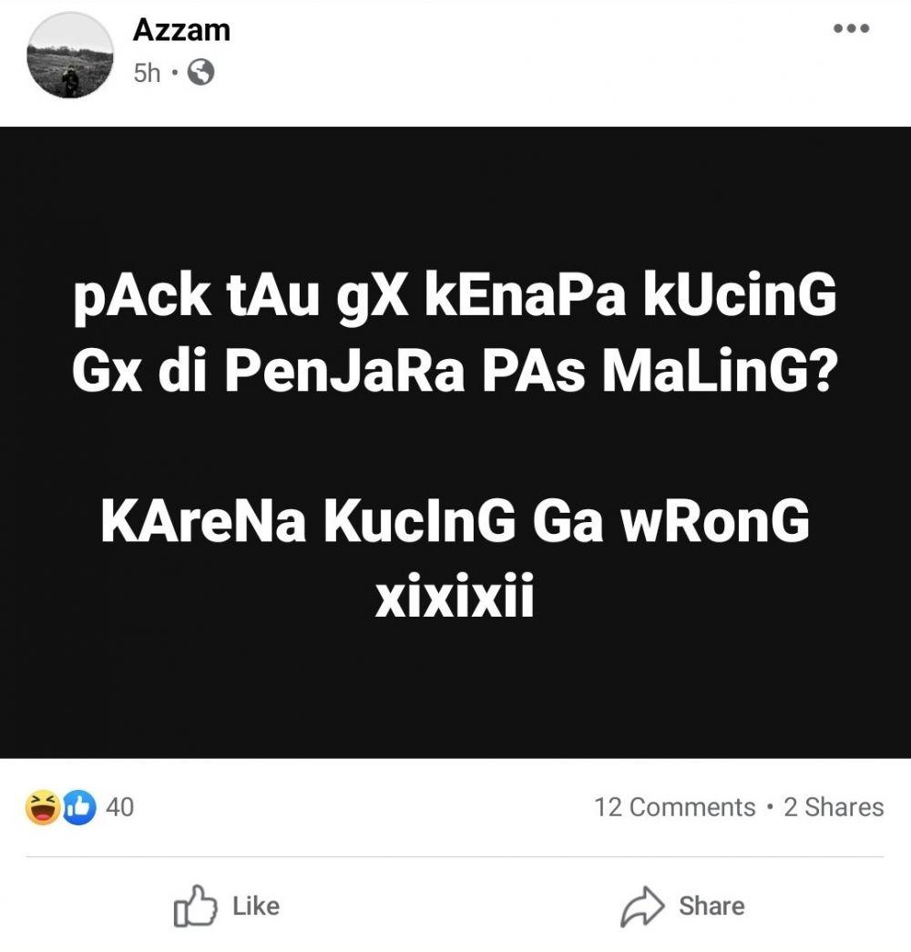 Tebakan bapak-bapak di FB Facebook