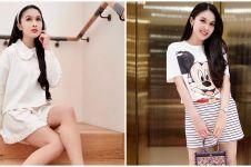 10 Gaya fashion Sandra Dewi ini simpel dan stylish bak ABG