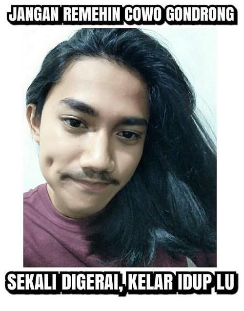 Meme rambut gondrong Berbagai sumber