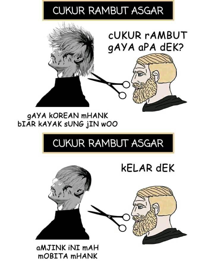 Meme realita cukur rambut Berbagai sumber