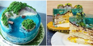 10 Kue tiga dimensi berbentuk pulau ini detailnya bikin melongo