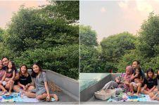 5 Potret keluarga Meisya Siregar piknik di rooftop, penuh keseruan