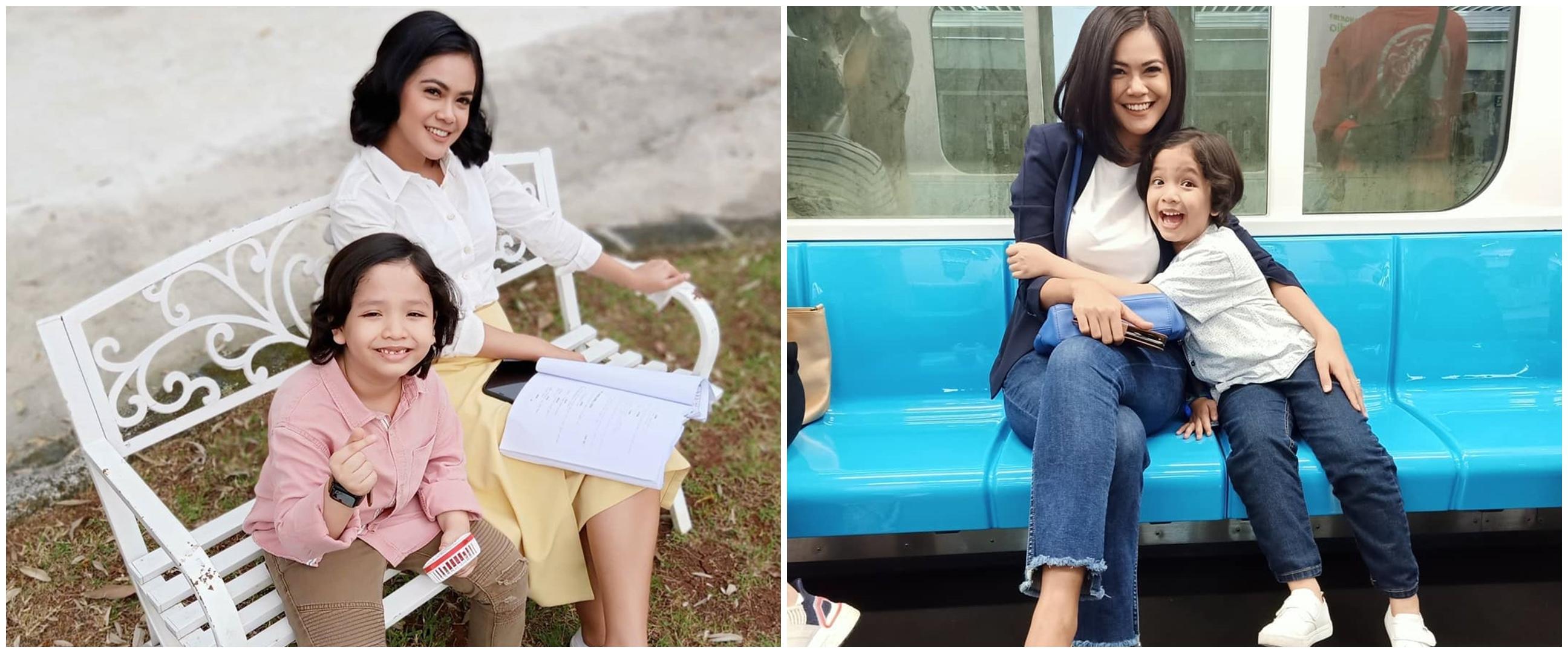 9 Potret kedekatan Radja Nasution & Indah Indriana, bak anak kandung
