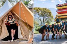 8 Momen liburan Cita Citata camping hingga rafting, penuh keseruan