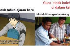 10 Meme lucu murid yang suka duduk di belakang, kocaknya ngangenin