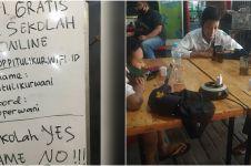 Viral warung sediakan wifi & teh gratis bagi siswa belajar online