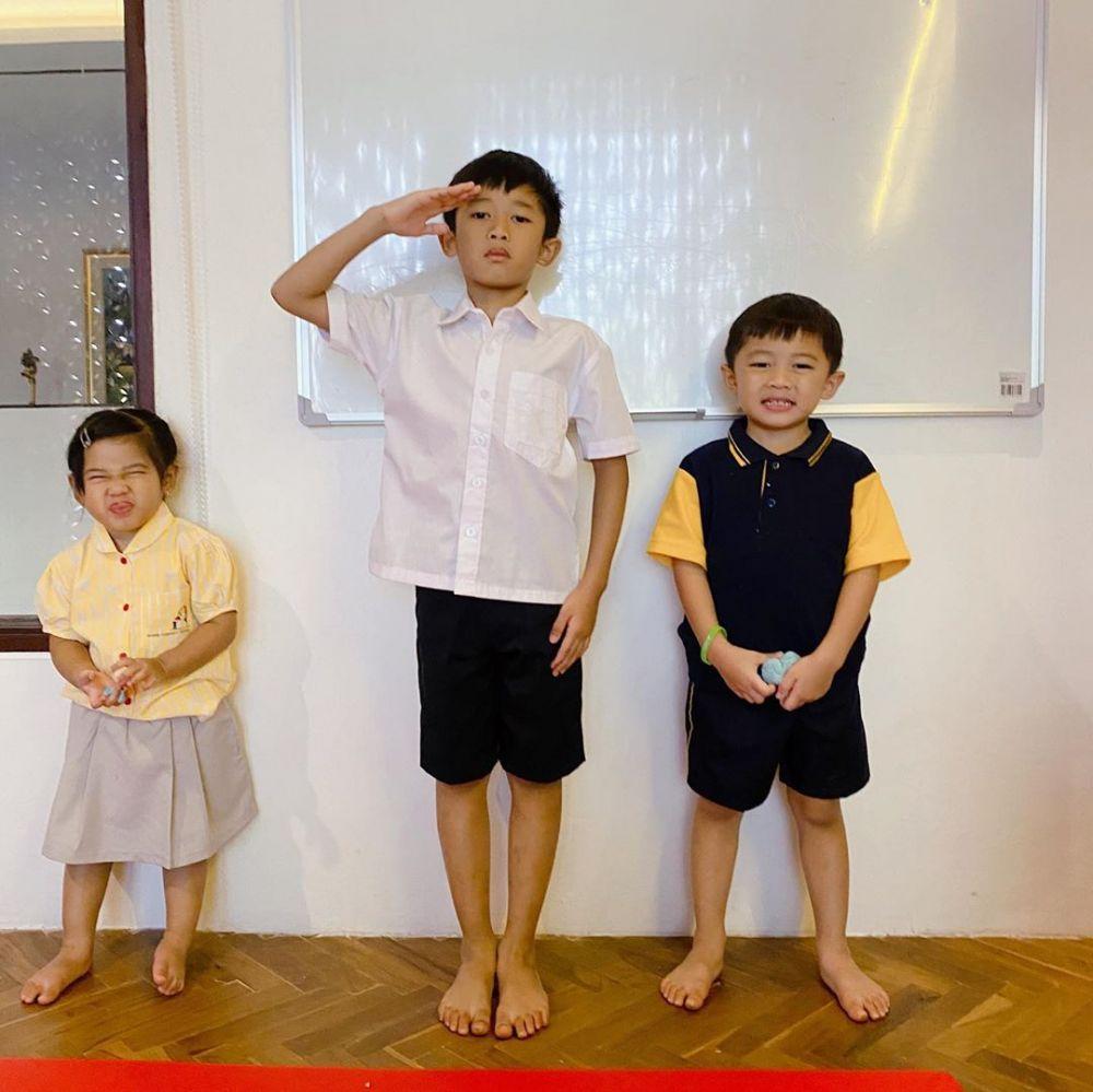 Potret lucu ketiga anak Ibas Instagram