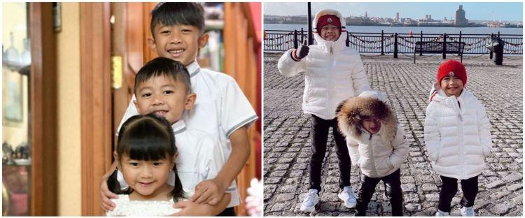 8 Potret lucu ketiga anak Ibas & Aliya Rajasa, kerap pakai baju kembar