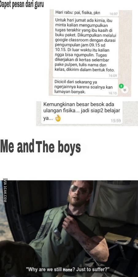 Meme lika-liku sekolah online berbagai sumber