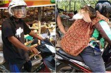 7 Potret orang bawa kambing dengan menggunakan motor ini kocak