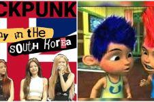 10 Karakter ikonik ini diedit jadi 'anak punk', nyentrik dan lucu