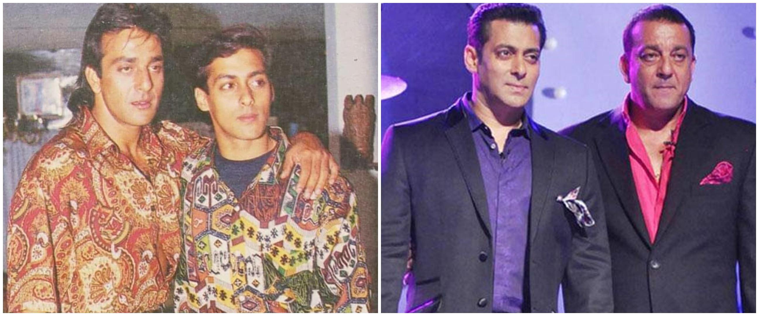 8 Potret persahabatan Salman Khan dan Sanjay Dutt, bak kakak-adik