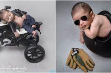 7 Potret newborn anak Nabila Putri bertema otomotif, gayanya gemesin