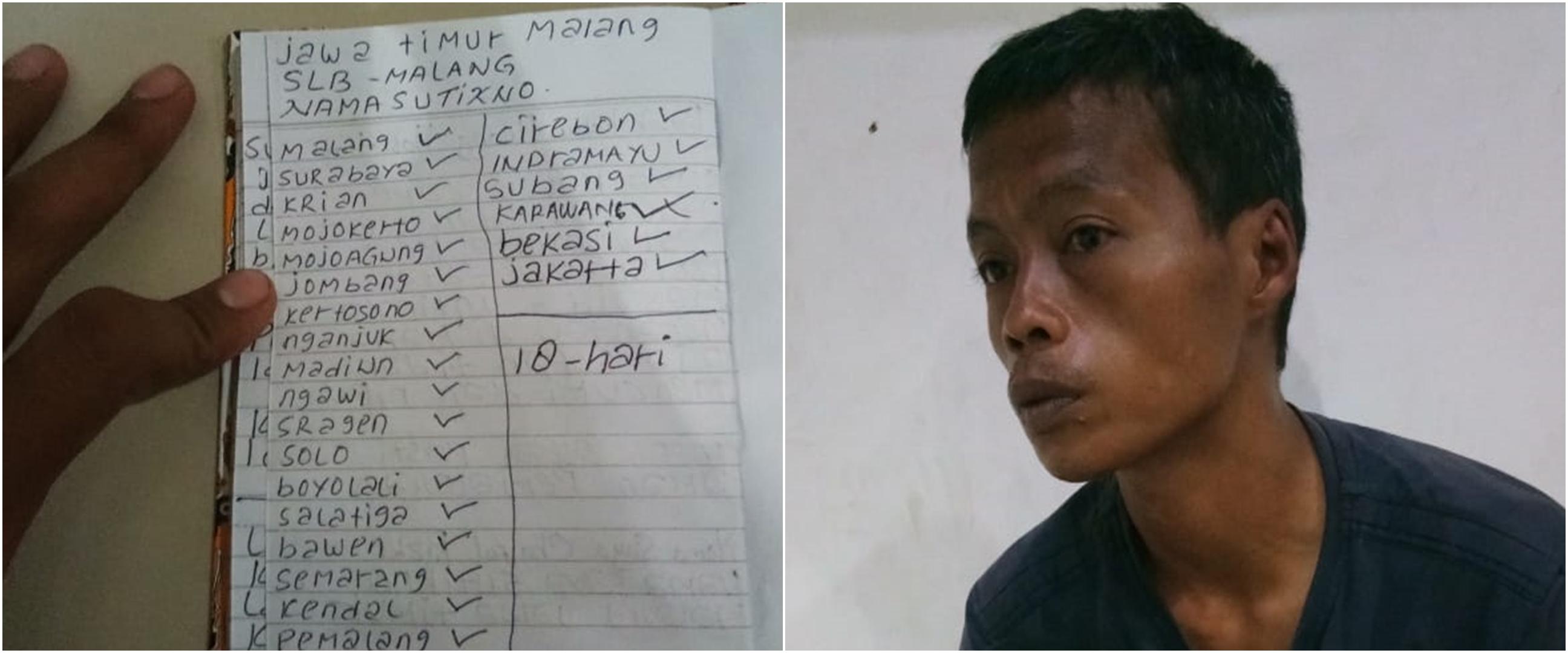 Cari kedua orang tua, pemuda tunawicara gowes dari Malang ke Jakarta
