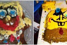 10 Potret kue bertema SpongeBob ini hasilnya bikin tepuk jidat